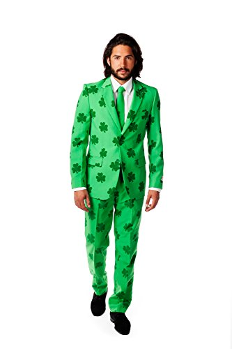 OppoSuits Men's Patrick Party Costume Suit, Green, 44