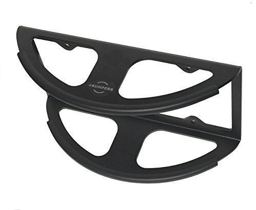 4Bumpers® Prime+ The Best Solid Steel License Plate Frame Parking Bumper Protector (Black)