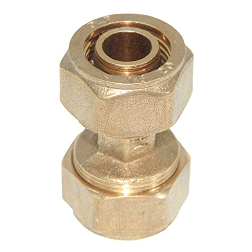 MonkeyJack Brass Barbed Straight Aluminum Compressed Composite Pipe Fitting Female Thread Coupling Connector Joint - As picture show, S20