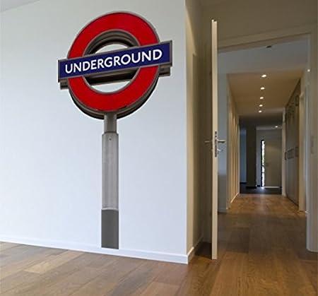 Grande Cartel Grande de Metro de Londres extraíble de Pared ...