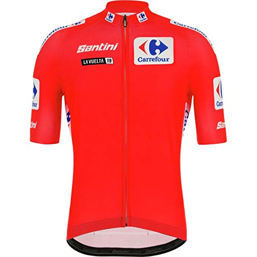 (Santini La Vuelta Leader of Class Short-Sleeve Jersey - Men's Red, L)