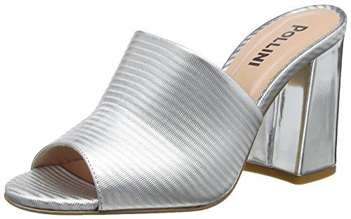 Pollini Women's Mules Silver (Argento 902) 6g8isDK915