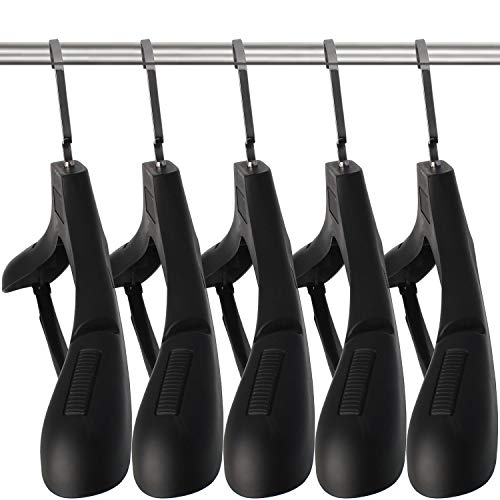 SAN RONG Plastic Extra Wide Suit Hangers, Pack of 15, Width: 17.7