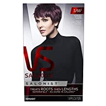 Vidal Sassoon  Salonist Hair Colour Permanent Color Kit, 3/66 Darkest Intense Violet- Packaging May Vary