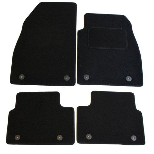 Car Van Truck Brand Name 4 Piece Vauxhall Q94:CT55 2013-2018 Insignia Vehicle Specific Car Mat Set in Black Carpet with Black Edge Trim Colour