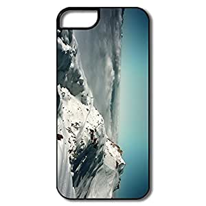 IPhone 5 Cases, Alps Mountains France Cover For IPhone 5/5S - White/black Hard Plastic