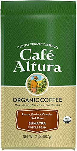 (Cafe Altura Whole Bean Organic Coffee, Sumatran Dark Roast, 2 Pound)
