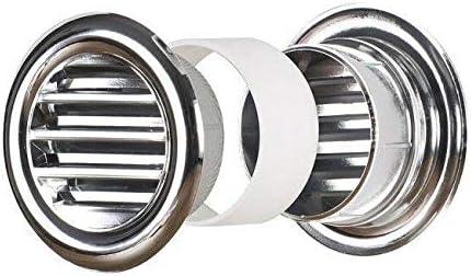 Cercle chrome air vent grille 40mm 55mm 37mm porte ventilation couverture silver t71ms