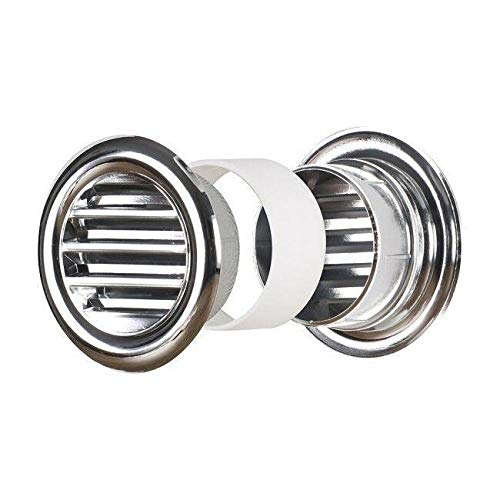 White Bathroom Door Mini Circle Air Vent Grille 40mm 1.57 Two Sided Round Ventilation Ducting Cover Furniture Soffit Grid T71
