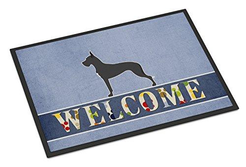 Caroline's Treasures Dane Welcome Doormat 24 x 36 Multicolor (Great Dane Doormat)