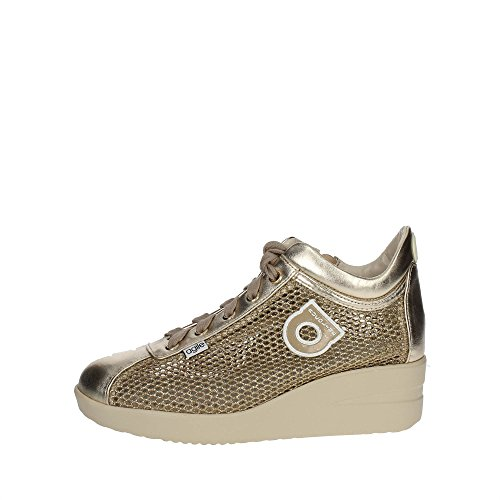 Agile By Rucoline 226 A Sneakers Femme Cuir/tissu Or Or 37