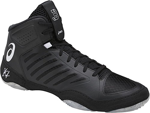 ASICS Men's JB Elite III Wrestling Shoe, Black/White, 10 Medium US