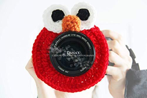 Elmo Inspired Camera Lens Buddy - Photography Prop - Kids - Children - Gift - Handmade - Fun - Photographer