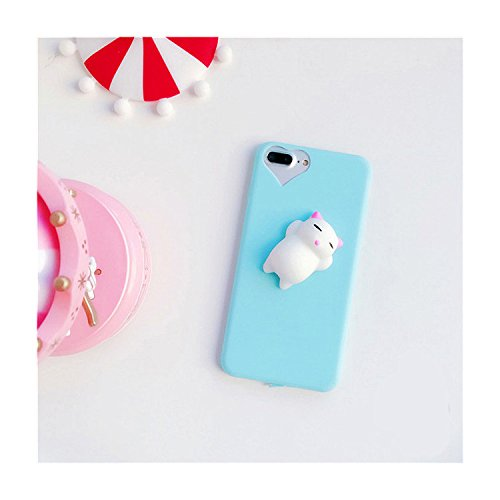 Price comparison product image Squishy Cute Cat Mobile Phone Case 3D Cute Sleep Cat Phone Cover for iPhone 6s 6 6 Plus 7 7 Plus 5 5s SE Case Soft Silicone Gel Shell - Sky Blue (Sky Blue - Iphone 5 5s SE)