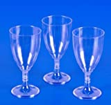 Bestbuystore US 25 PLASTIC WINE GLASSES 8 oz Wedding Party Cups Disposable