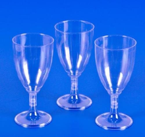 Bestbuystore US 200 PLASTIC WINE GLASSES 8 oz Wedding Party Cups (Blown Player Ornament)