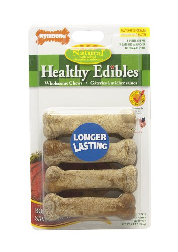 Nylabone Healthy Edible Roast Beef Bone for Pets, Petite, 8 Count Blister Pack, My Pet Supplies