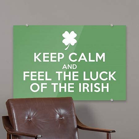 CGSignLab Inner CircleKeep Calm Luck of The Irish Premium Acrylic Sign 36x24