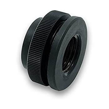 EKWB ek-af Pass-Through G1/4 Black - Hardware Cooling Accessory (25 mm x 25 mm, 14 mm)