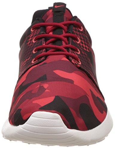 Nike Nike 655206-606: Roshe Één Afdruk Rood / Zwart Mode Toevallige Lopende Mannen Grootte (us Mannen 9)