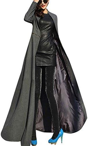 YKARITIANNA Womens Soft Comfy Medieval Retro Costumes, Coat Winder Breaker Slim Fit Long Trench Outwear Parka Elegant Tops