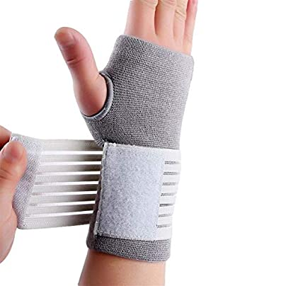 Nylon Spandex Material And White Carpal Tunnel Palm Brace Wristband Sport Wrist Sleeve Band Wristbands for Events Estimated Price £11.55 - £12.49 -