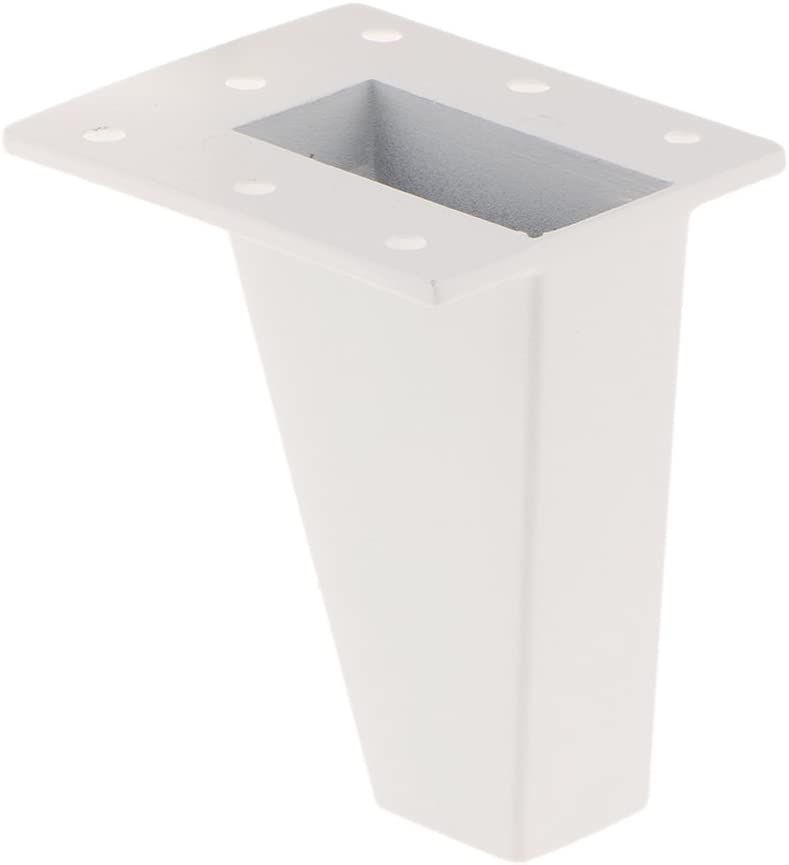 Blanc,10cm Gazechimp 4pcs Pieds de Meubles en Alliage dAluminium Forme en Hypot/énuse Plinthe pour Canap/é Sofa Antiusure