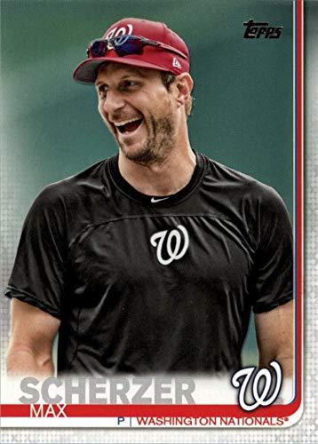 2019 Topps Series 1 - Max Scherzer - IMAGE/PHOTO VARIATION - SP SHORT PRINT - Washington Nationals Baseball Card #344