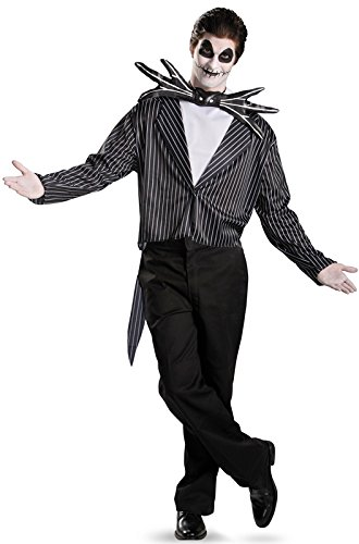 [Disguise Men's Tim Burton's The Nightmare Before Christmas Jack Skellington Classic Costume, Black/White, 38-40] (Christmas Costumes Adults)