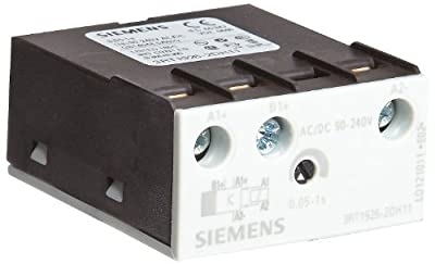 Siemens 3RT19 26-2DH11 Solid State Time Delay Block, Semiconductor Output, Off Delay, Varistor Integrated, S0 - S3 Size, 0.05 - 1s Time Setting Range, 90-240VAC/VDC Rated Control Supply Voltage