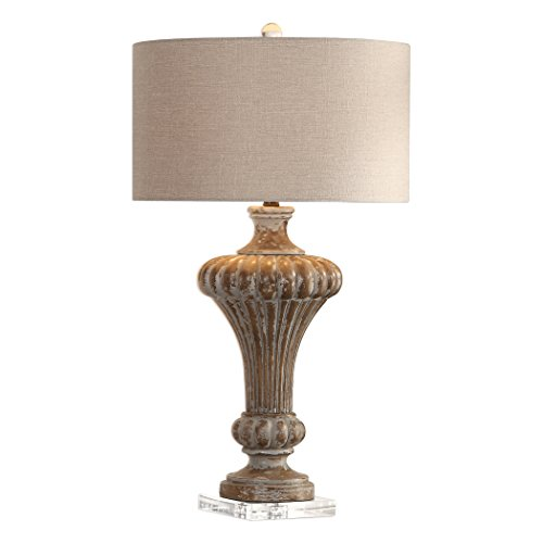 - Uttermost 27863 Treneece Transitional Distressed Aged Pecan Table Lamp