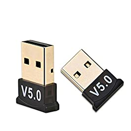 Richvolt Nano USB Bluetooth 5.0 Adapter for PC Laptop Desktop Computer, Long Range Bluetooth Dongle/Receiver for Windows 10/8.1/8/7/XP, Bluetooth Speaker, Headset, Keyboard, Mouse, Plug and Play