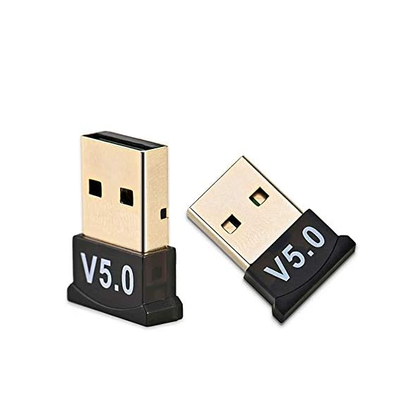 Rocketkart USB Bluetooth Adapter for PC 5.0 Bluetooth Dongle Support Windows 10/8.1/8/7/XP for Desktop, Laptop, Mouse