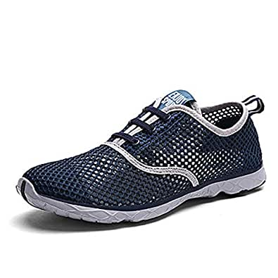 gracosy Mens Womens Water Sport Shoes, Quick Drying Aqua Beach Barefoot Shoes Athletic Sneaker Outdoor Slip on for Fishing Surfing Blue Size: 6 Women/5 Men