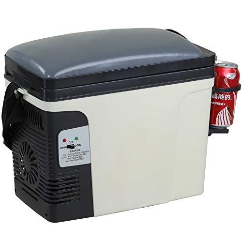 (SMETA 12V Thermoelectric RV Car Cooler Warmer Portable Mini Truck Refrigerator 110V Office Home Food Heater Beverage Cooler Fridge,6L)