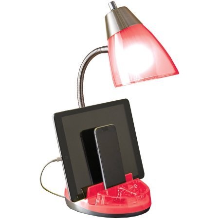 Lamp with Bulb with Organizer (Coral)
