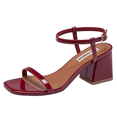 Sandali Parola Zll Rosso Con Sandals Open Una Femminile Estate Femminili Female Toe w4ExEFrq0