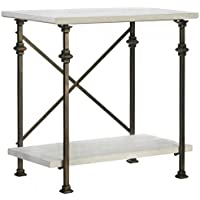 Wood Console Table with Iron Frame
