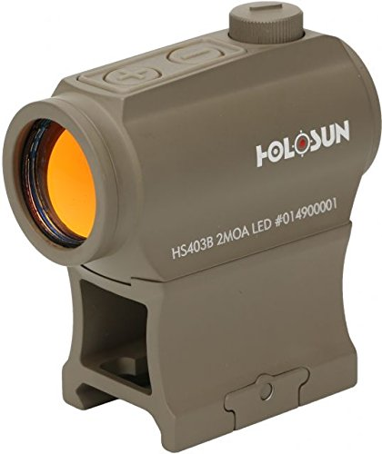 Holosun Red Dot Sight, Flat Dark Earth, (Red Dot Flat)