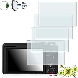 4 x Película de protección de pantalla DISAGU ClearScreen para Panasonic Lumix DMC-TZ58 antibacterial, filtro BlueLightCut película de protección