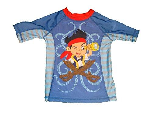 Disney Jake And The Neverland Pirates Boys Rash-Guard Shirt Size 2 ()