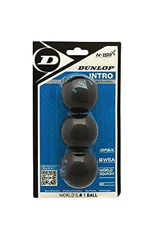 DUNLOP Pelota de Squash Intro (Punto Azul) Pack 3: Amazon.es ...