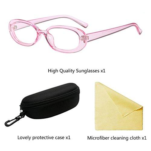 Zhhlaixing Gafas UV Pequeñas con Sol para Pink Durable de Gafas Mujeres Estuche Protector Moda Protección RrqUFfRcwT