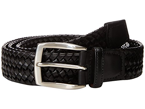 Torino Leather Co. Men's 35mm Italian Woven Stretch Leather Black 38