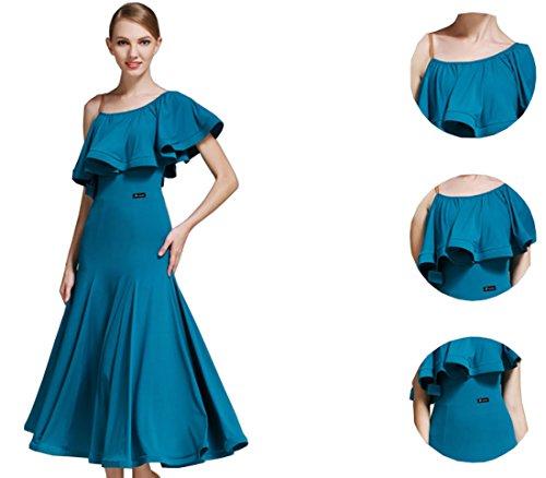 dress Modern National Dress Romantic Blue Lotus dress Dress Ballroom Waltz gxwFY