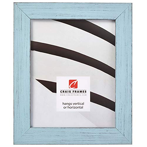 Craig Frames Jasper Picture Frame, 8 x 10 Inch, Country Sky - Light Blue Frame