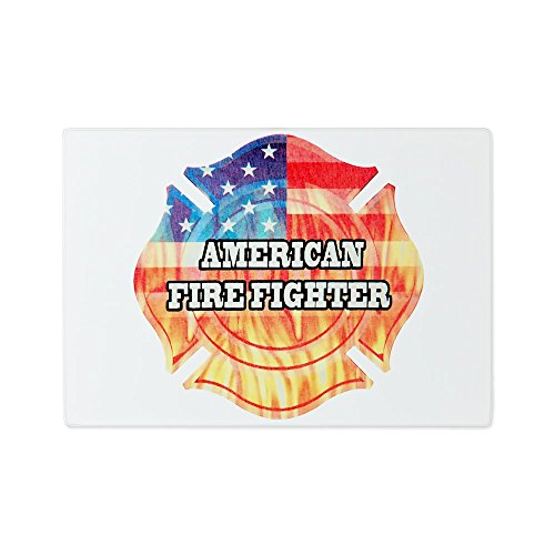 Glass Cutting Board American Firefighter American Fire Glass Accessory