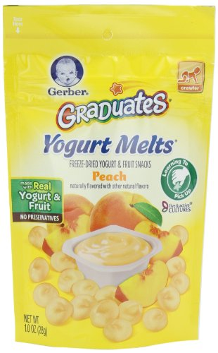 Gerber Graduates yogourt fond, Peach mixte, une once (pack de 7)