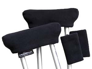 Black Crutch Pads, Crutch Covers, Cushions Made in USA by Crutch Buddies - Veteran Owned