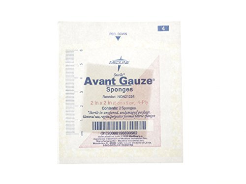 Medline Sterile Non-Woven Gauze Sponges - 4 Ply - 2